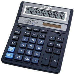 Kalkulator biurowy CITIZEN SDC-888XBL , 12-cyfrowy, 203x158mm, niebieski