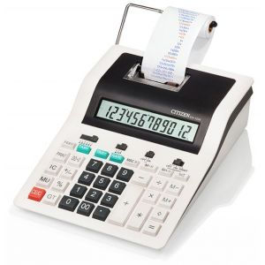 Printing calculator, CITIZEN CX-123N, 12-digit, 267x202mm, black & white