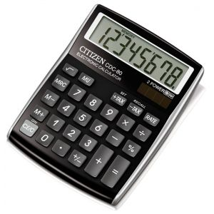 Office calculator, CITIZEN CDC-80 RDWB, 8-digit, 135x80mm, black