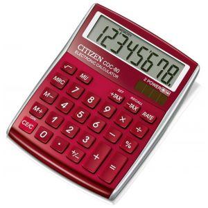 Office calculator, CITIZEN CDC-80 RDWB, 8-digit, 135x80mm, red