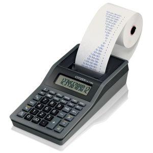 Kalkulator drukujący CITIZEN CX-77BNES, 12-cyfrowy, 200x102mm, czarno-antracytowy