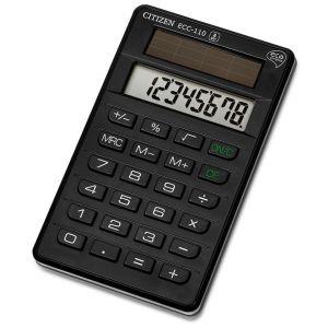 Office calculator, CITIZEN ECC-110, 8-digit, 118x70mm, black