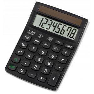 Kalkulator biurowy CITIZEN ECC-210, 8-cyfrowy, 143x102mm, czarny