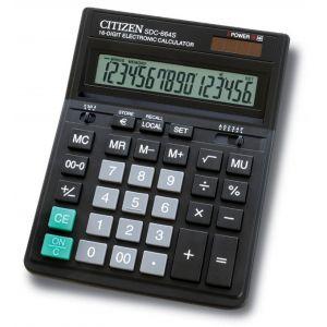 Kalkulator biurowy CITIZEN SDC-664S, 16-cyfrowy, 199x153mm, czarny