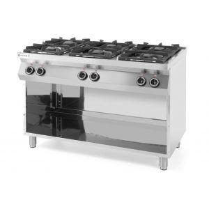 Kuchnia gazowa 6-palnikowa Kitchen Line na podstawie otwartej - kod 226094