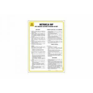 Instrukcja BHP higienicznego korzystania z wc dla pracowników zakładu DN - 350 x 245mm IAG61DNHN