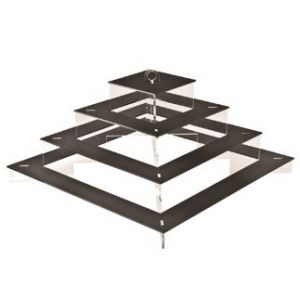 FINGERFOOD - Display QUADRI czarny PMMA 47x47x26cm