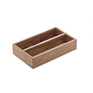 Acacia - container for sachets/ cutlery