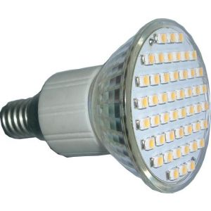 Żarówka LED SMD-LL-E14, 48 SMD (3528) 3W - ciepła