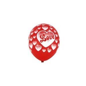 "Balony 12"" czerwone z nadrukiem LOVE op. 50 sztuk"