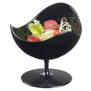 FINGERFOOD mini miseczka BALL CHAIR 50ml czarna, op.5szt.,fi.7x(h)7cm, PS (k/40)