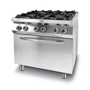 Kitchen Line 4-burner gas cooker with convection oven GN1/1