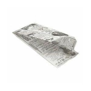 TIMES biała torebka hot-dog 9 + 3x22cm, tłuszczoodporny pergamin, op. 500 sztuk