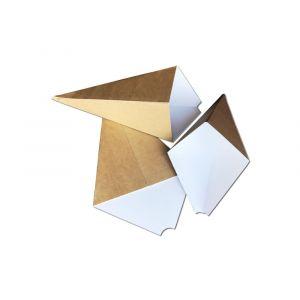 Pudełko ROŻEK na FRYTKI, NUGGETSY, CHURROSSY brązowy 300g TnG 180x250mm op. 100 sztuk
