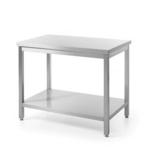 Central work table with shelf - screwed down 1600 x 600