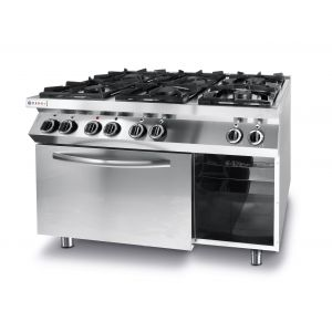 Kitchen Line 6-burner gas cooker with convection electric oven - code 225899