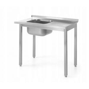 Stół załadowczy do zmywarek ze zlewem -skręcany -  prawy 1000x600x(H)850  kod 811924