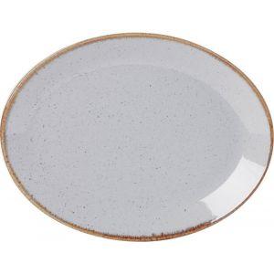 Fine Dine Oval plate Ashen 310x240 mm- code 04ALM001395