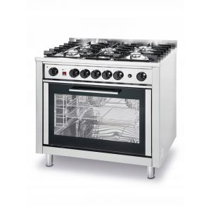 Kitchen Line 5-burner gas cooker with convection oven and grill - code 225707