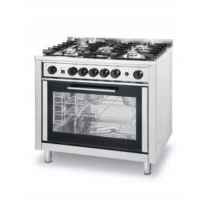 Kuchnia gazowa 5-palnikowa Kitchen Line z konwekcyjnym piekarnikiem elektrycznym i z grillem - kod 225707