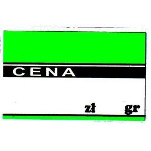 Cena laminowana duża A8 kolor -zielony