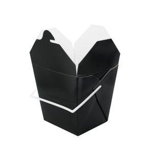 CHINABOX kwadratowy, czarny 750ml z rączką  op. 50 sztuk