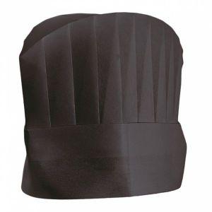 Czapki kucharskie czarne z włókniny wysokość 20 cm, op. 10 sztuk