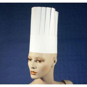 Czapki kucharskie papierowe German Style h. 26cm op. 25 sztuk