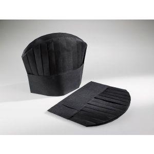 Czapki kucharskie TNT BLACK CHEF`S 24 x 28,5 cm czarne op. 25 sztuk