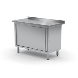 Stół przyścienny, szafka z drzwiami suwanymi -spawany - kod 811641