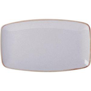 Fine Dine Rectangular platter Ashen 310x180 mm- code 04ALM001401