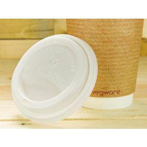Dekiel do kubka C-PLA biały 90mm VEGWARE 100% biodegradowalny op. 50 sztuk