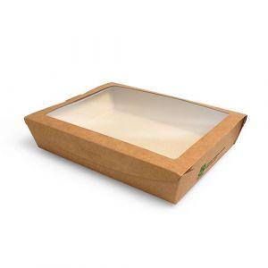 Pudełko brązowe sałatkowe 1500ml 210x160x45mm PURE biodegradowalne op. 40 sztuk