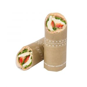 SnackToGo - Wrap bag 10,5x30,5cm KRAFT nadruk food-safed (farby pochodzenia roślinnego) op. 100 sztuk