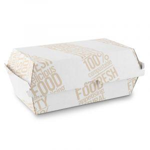 TAKE AWAY BOX 900ml z nadrukiem, karton mikrofala, cena za op.50szt.