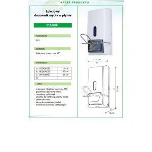 Dozownik dezynfekcji łokciowy 0,8L ABS 110RBH