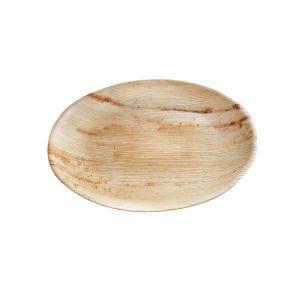 Talerz z liści palmowych ś.230xh.15mm okrągły op. 25 sztuk