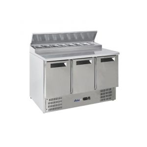 Refrigerated salad tables with extension 3 DOORS