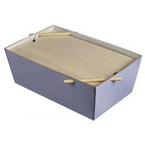 Lunch Box Bourriche Case błękit lawend podstawa kartonowa, 290x185x105mm, op.50szt., biodegradowalne (k/50)