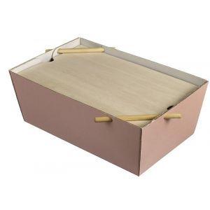 Lunch Box Bourriche Case różowy cukier podstawa kartonowa, 290x185x105mm, op.50szt., biodegradowalne (k/50)