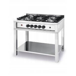 5-burner gas cooker on an open base - code 225806
