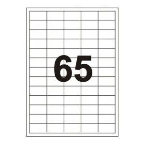Etykiety Emerson, samoprzylepne, 100 arkuszy, 6500 etykiet, eta4038*212, 38x21,1mm