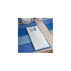 Cutlery case AIRLAID white, 100 pieces