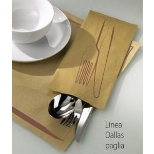 Paper cutlery cases DALLAS 11x25cm brown, 400 pieces