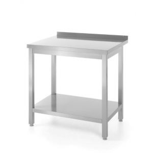 Wall mounted working table with rim and shelf 1000x600(H)850 code 811467