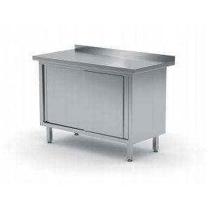 Stół przyścienny, szafka z drzwiami suwanymi - kod 811672