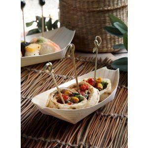 """FINGERFOOD - miseczki z drewna 16,5xh.8,5cm """"łódka"""" op. 50 sztuk"""