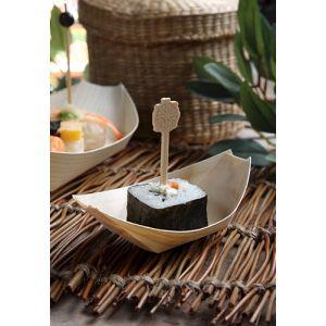 """FINGERFOOD - miseczki z drewna 8,5xh.5,5cm """"łódka"""" op. 50 sztuk"""