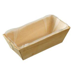 FINGERFOOD - drewniana foremka 95ml, 10x4,5x3cm, wkładka papierowa, op. 25 sztuk