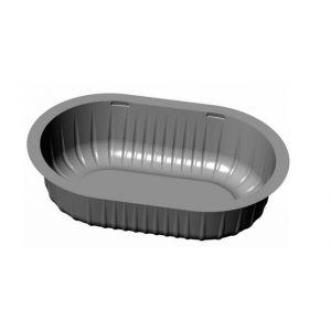 Pojemnik PP zupa 475ml, czarny 178x117x47 owalny op. 1080 sztuk